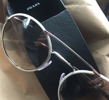Prada Chrome Round Sunglasses